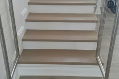 Solid Oak Stairs with a Grey finish